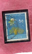 SUD SOUTH AFRICA RSA AFRIQUE 1961 FLORA BAOBAB TREE FLOWER FIORE ALBERO  CENT. 5 USATO USED OBLITERE' - South Africa (...-1961)