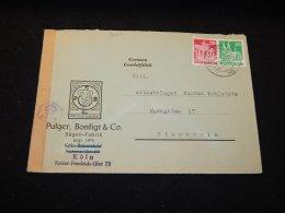 Germany Bizone 1949 Köln Censored Cover To Sweden__(L-6665) - Bizone