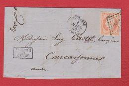 Lettre  / De Toulouse  / Pour Carcassonne / 1 Mars 1859 - Postmark Collection (Covers)