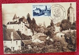 FRANCE Vigne Et Vin, N°905 Vue D'Arbois Chateau (castle) 22/07/1951 Achet A Date Temporaire Fete Du Vin - Vins & Alcools