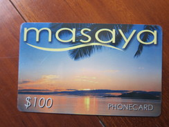 Masaya Phonecard, Sunset,backside With China Airlines Advertisement, Sample Card(cover On Front With A Little Damage) - Hong Kong
