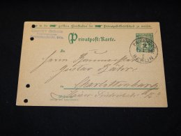 Germany Privat 1896 Privatpost Berlin Card__(L-5767) - Private