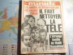 Minute N°1288 Du 12 Au 18 Décembre 1986 Les Médias De Mitterrand Ont Fait Reculer Chirac / Il Faut Nettoyer La Télé - Politique