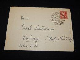 Germany Soviet 1946 Steinach Cover To Coburg__(L-6012) - Soviet Zone