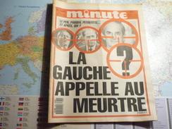Minute N°1289 Du 19 Au 25 Décembre 1986 Le Pen, Pasqua, Peyrefitte...et Après, Qui? La Gauche Appelle Au Meurtre - Politique