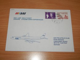 Greenland 1988 SAS First Flight Söndre Strömfjord-Copenhagen__(L-7602) - Brieven En Documenten