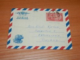 India 1967 Aerogramme To Finland__(L-5648) - Brieven En Documenten