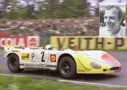 Rudi Lins  -  Porsche 908 Spyder  -  ADAC 1000kms Nurburgring 1970   -  Carte Promo - Le Mans
