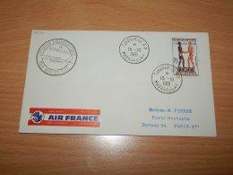 Madagascar 1961 Air France First Flight Tananarive-Paris__(L-7570) - Madagaskar (1960-...)