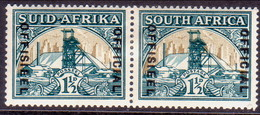 SOUTH AFRICA 1937 SG #O22 1½d In Horiz.pair MH Official Wmk Inverted CV £50 - South Africa (...-1961)