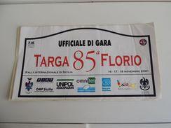 X BIG Dimension 21X42 Adesivo Stiker Etiqueta PLACCA RALLY 85 TARGA FLORIO - Unclassified