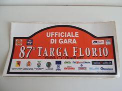 X BIG Dimension CM.21X42 Adesivo Stiker Etiqueta PLACCA RALLY 87 TARGA FLORIO Ug - Stickers