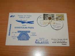 Sudan 1979 Air France First Flight Khartoum-Paris__(L-7549) - Sudan (1954-...)