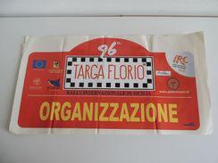 X BIG Cm 21X42 Adesivo Stiker Etiqueta PLACCA RALLY 96 TARGA FLORIO IRC - Stickers