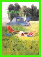 VOITURES DE TOURISME - 2 CHEVAUX EN CAMPAGNE -APRÈS MIDI DE DÉTENTE - PEINT PAR ALTON GEORGE JACKSON - - Voitures De Tourisme
