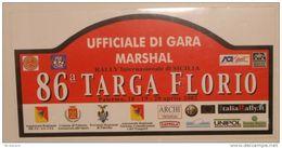 X BIG Cm 20X39 Adesivo Stiker Etiqueta PLACCA RALLY 86 TARGA FLORIO MARSHAL - Unclassified