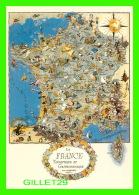 MAPS, CARTES GÉOGRAPHIQUES - LA FRANCE TOURISTIQUE & GASTRONOMIQUE EN 1948 - - Cartes Géographiques