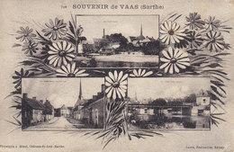 CPA (72) Sarthe - Souvenir De VAAS - Multi Vues Circulée Timbrée 1930 ( Marguerite ) - Autres Communes