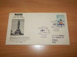 Turkey 1972 Akoba First Flight Izmir-Milano__(L-7097) - 1921-... Repubblica