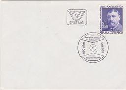 FDC 1985 - Mi 1826 (6) : 150. Geburtstag Von Adam Politzer , SST 1150 Wien - 1981-90 Briefe U. Dokumente