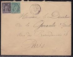 Seine Et Oise, Lettre De Ecouen De 1883 - 1877-1920: Periodo Semi Moderno