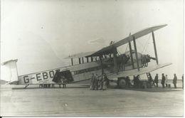 Carte- Photo :Bi-Plan G- EBOZ; Imperial Airways London. Pilote/Personnel; Voyageurs.Superbe - 1919-1938: Fra Le Due Guerre