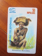 First Issued Chip Phonecard, Local Women On Phone,used - Angola