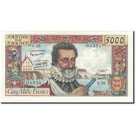 France, 5000 Francs, 5 000 F 1957-1958 ''Henri IV'', 1957, 1957-12-05, KM:135a - 1871-1952 Circulated During XXth