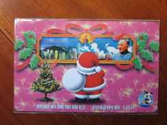 Private Issued Autelca Phonecard,Christmas And Hongkong Return Chairman Deng, Set Of 1,mint - Hong Kong