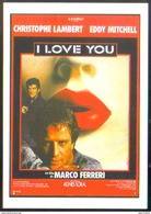 Carte Postale Illustration : Michel Landi (cinéma Affiche Film) I Love You (Christophe Lambert - Eddy Mitchell) - Plakate Auf Karten