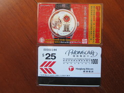 Private Issued Autelca Phonecard, Watch, Set Of 1,mint - Hong Kong