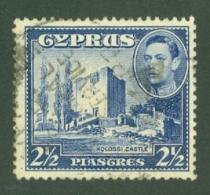 Cyprus: 1938/51   KGVI   SG156   2½pi    Used - Zypern (...-1960)