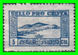 SELLO LOCAL GUERRA CIVIL ESPAÑOLA PRO CEUTA 5 Ctms - Impuestos De Guerra