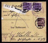 A5035) DR Infla Dienstpaketkarte Von Merseburg 2.3.22 Nach Halle - Deutschland