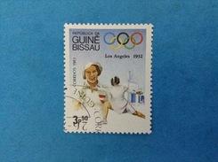 REP GUINE BISSAU GUINEA FRANCOBOLLO USATO STAMP USED - GIOCHI OLIMPICI LOS ANGELESE 1932 OLIMPIADI 3 P 50 - Guinea-Bissau