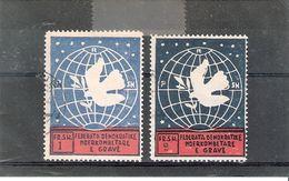 Albanie - Yv.339/340 - Obl/gest/used - Albanie