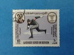 SOUTH ARABIA KATHIRI STATE OF SEIYUN FRANCOBOLLO USATO STAMP USED - GIOCHI OLIMPICI GRENOBLE 1968 OLIMPIADI 10 FILS - Inverno1968: Grenoble