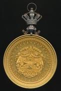 Medaille - Belgique - L'union Fait La Force - Pracht Vergulde Medaille Met Zilveren Kroon - Zie 4 Scans En Beschrijving - Belgium