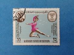 SOUTH ARABIA KATHIRI STATE OF SEIYUN FRANCOBOLLO USATO STAMP USED - GIOCHI OLIMPICI GRENOBLE 1968 OLIMPIADI 35 FILS - Inverno1968: Grenoble