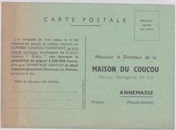 CARTE POSTALE DE CORRESPONDANCE - CONCOURS AVEC MAISON DU COUCOU A ANNEMASSE (74) - Horloges