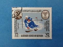 SOUTH ARABIA KATHIRI STATE OF SEIYUN FRANCOBOLLO USATO STAMP USED - GIOCHI OLIMPICI GRENOBLE 1968 OLIMPIADI 75 FILS - Inverno1968: Grenoble
