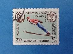 SOUTH ARABIA KATHIRI STATE OF SEIYUN FRANCOBOLLO USATO STAMP USED - GIOCHI OLIMPICI GRENOBLE 1968 OLIMPIADI 250 FILS - Inverno1968: Grenoble