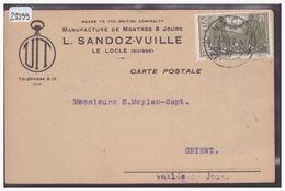 LE LOCLE - MANUFACTURE DE MONTRES L. SANDOZ-VUILLE - HORLOGERIE - TB - NE Neuchâtel