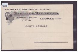 LE LOCLE - FABRIQUE D'HORLOGERIE PERRET & BERTHOUD - B ( PLI D'ANGLE ) - NE Neuchâtel