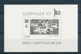 DDR/East Germany/Allemagne Orientale 1977 Mi: Block 48 S (PF/MNH/Neuf Sans Ch/**)(2969) - Blokken