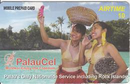 PALAU - 2 Girls On Phone, PalauCel Prepaid Card, Exp.date 30/12/15, Used - Palau