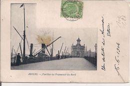 ANVERS - PAVILLON DU PROMENOIR DU NORD - VIAGGIATA 1904 - B/N - - Belgio