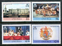 Anguilla 1978 25th Anniversary Of Coronation Set MNH (SG 320-23) - Anguilla (1968-...)