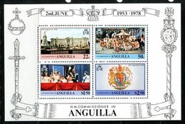 Anguilla 1978 25th Anniversary Of Coronation MS MNH (SG MS324) - Anguilla (1968-...)