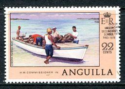 Anguilla 1978 Anniversaries - 22c Value - ERROR - Overprint Double - MNH (SG 325a) - Anguilla (1968-...)